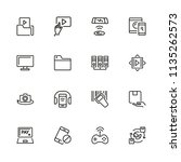discovery icons. set of line... | Shutterstock .eps vector #1135262573