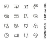 cinema icons. set of line icons.... | Shutterstock .eps vector #1135262708