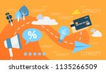 customer loyalty concept.... | Shutterstock .eps vector #1135266509