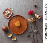 flat lay mid autumn festival... | Shutterstock . vector #1135268579
