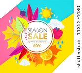autumn sale. seasonal offer... | Shutterstock .eps vector #1135274480