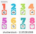 infographic elements with... | Shutterstock .eps vector #1135281008