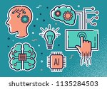 set of icons on the theme of... | Shutterstock . vector #1135284503