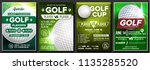 golf poster set vector. design... | Shutterstock .eps vector #1135285520