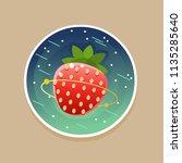 sweet cosmic ctrawberry. vector ... | Shutterstock .eps vector #1135285640