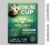 bowling poster vector. design... | Shutterstock .eps vector #1135290053