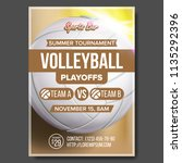 volleyball poster vector.... | Shutterstock .eps vector #1135292396