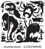 large collection of cartoon... | Shutterstock .eps vector #1135298900