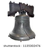 u.s. liberty bell in... | Shutterstock . vector #1135302476