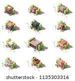 vector isometric shop and... | Shutterstock .eps vector #1135303316