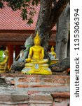 wat yai chai mongkhol in... | Shutterstock . vector #1135306394