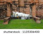 wat yai chai mongkhol in... | Shutterstock . vector #1135306400
