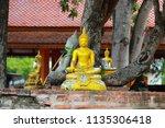 wat yai chai mongkhol in... | Shutterstock . vector #1135306418