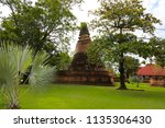 wat yai chai mongkhol in... | Shutterstock . vector #1135306430