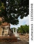wat yai chai mongkhol in... | Shutterstock . vector #1135306448