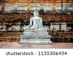 wat yai chai mongkhol in... | Shutterstock . vector #1135306454