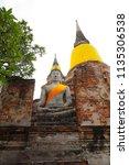 wat yai chai mongkhol in... | Shutterstock . vector #1135306538