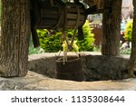close up of ancient stone well...   Shutterstock . vector #1135308644