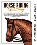 horse riding academy vector... | Shutterstock .eps vector #1135315286
