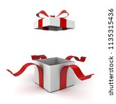 open gift box present box with... | Shutterstock . vector #1135315436