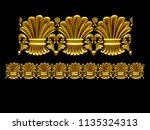 golden  ornamental segment  ... | Shutterstock . vector #1135324313