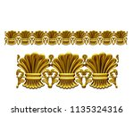 golden  ornamental segment  ... | Shutterstock . vector #1135324316