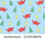 marine themed childrens pattern ... | Shutterstock .eps vector #1135328690