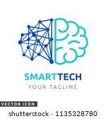 brain   circuit logo icon | Shutterstock .eps vector #1135328780