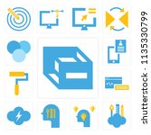 set of 13 simple editable icons ... | Shutterstock .eps vector #1135330799