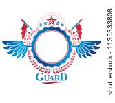 graphic winged emblem created... | Shutterstock .eps vector #1135333808