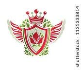 vintage heraldic coat of arms... | Shutterstock .eps vector #1135333814