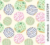 seamless pattern of colored... | Shutterstock . vector #1135337399