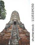 wat yai chai mongkhol in... | Shutterstock . vector #1135339250