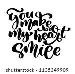 you make my heart smile hand... | Shutterstock . vector #1135349909