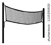 beach volleyball net on white... | Shutterstock .eps vector #1135350920