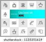 home icons. set of  line icons. ... | Shutterstock .eps vector #1135351619