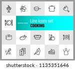 cooking icons. set of  line... | Shutterstock .eps vector #1135351646