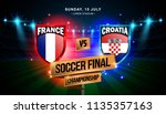 soccer final match between... | Shutterstock .eps vector #1135357163