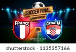 soccer final match between... | Shutterstock .eps vector #1135357166