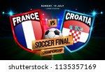 soccer final match between... | Shutterstock .eps vector #1135357169
