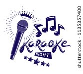 karaoke night and nightclub... | Shutterstock .eps vector #1135357400