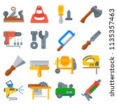 construction tools icons... | Shutterstock .eps vector #1135357463