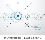 futuristic abstract vector... | Shutterstock .eps vector #1135357640