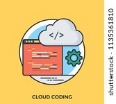 web page with cloud graphic... | Shutterstock .eps vector #1135361810