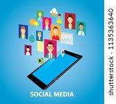 vector illustration of social... | Shutterstock .eps vector #1135363640
