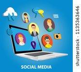 vector illustration of social... | Shutterstock .eps vector #1135363646