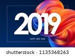 vector illustration  happy new... | Shutterstock .eps vector #1135368263