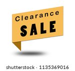 clearance sale on white... | Shutterstock . vector #1135369016