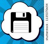 floppy disk sign. vector. black ... | Shutterstock .eps vector #1135370654