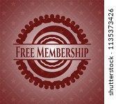 free membership retro style red ... | Shutterstock .eps vector #1135373426